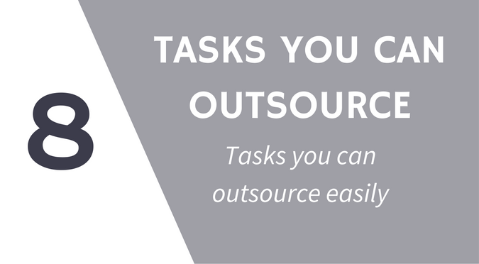 Tasks you can outsource